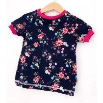 T-Shirt Blümchen dunkelblau