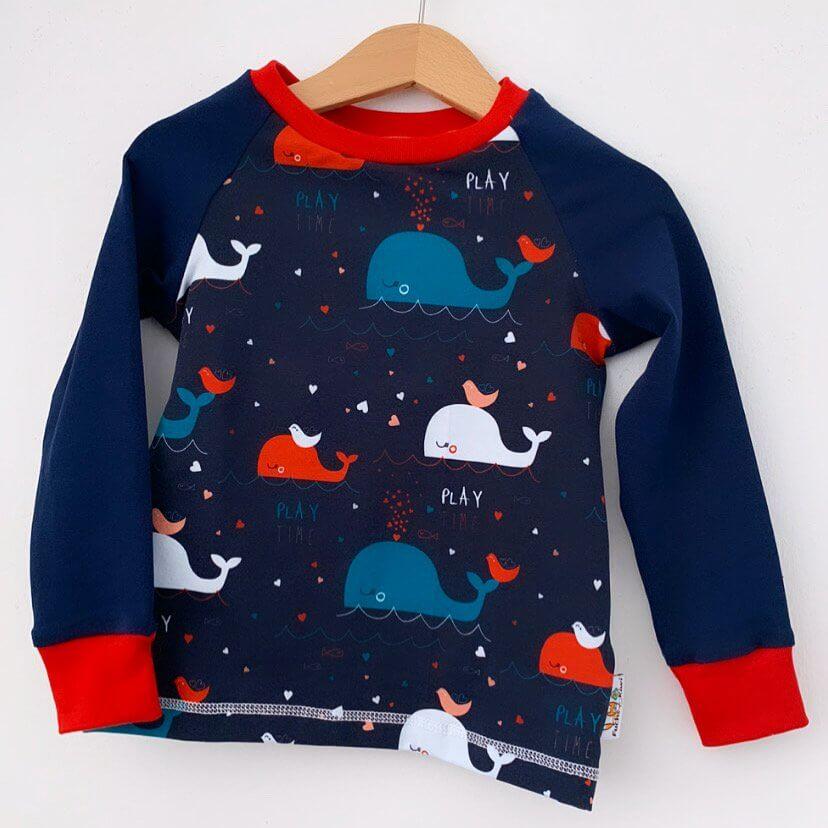 Langarmshirt Wale bunt
