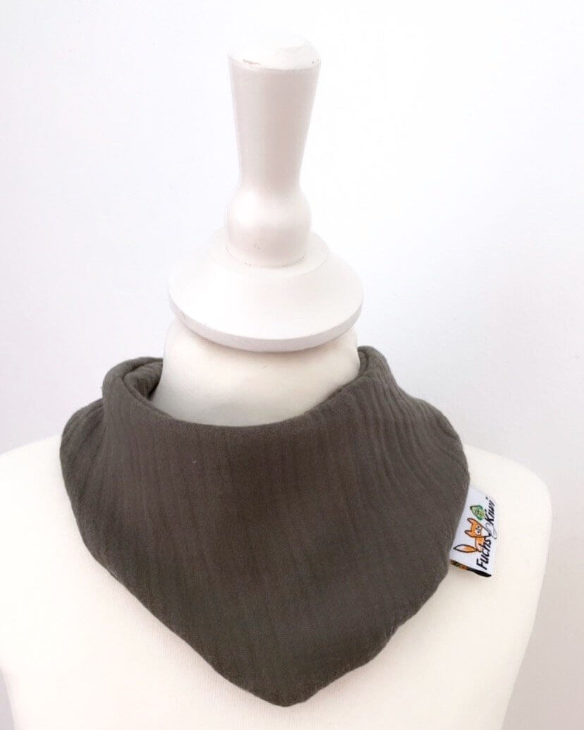Halstuch Musselin khaki