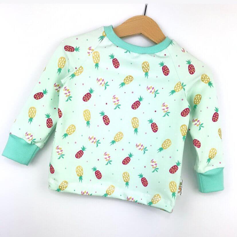 Langarmshirt Ananas mint