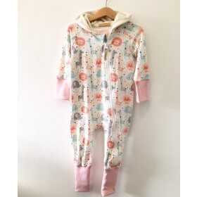 Sweatoverall Dschungel rosa