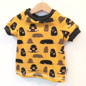 T-Shirt mit Maulwurf senfgelb