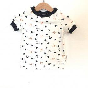 T-Shirt Anker & Herzen weiss