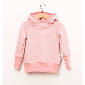 Hoodie für Mama aus Strick rosa