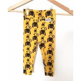 Leggings mit Affen gelb