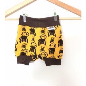 kurze Hose mit Affen gelb