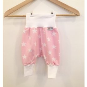 Pumphose mit Sternen rosa/weiss