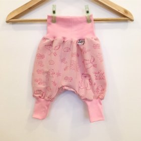 Pumphose Waldtiere rosa