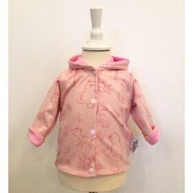 Wendejacke Waldtiere rosa