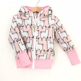 Softshelljacke Lama rosa