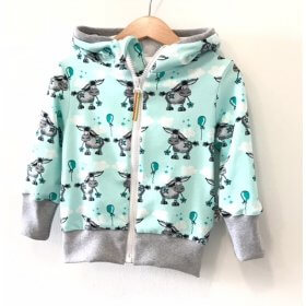 Sweatjacke Esel mint