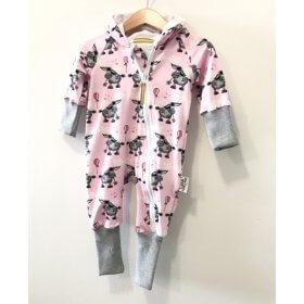 Sweatoverall Esel rosa