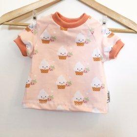 T-Shirt mit Cupcakes rosa