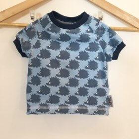 T-Shirt mit Igel blau