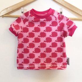 T-Shirt mit Igel pink