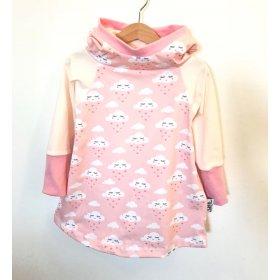 Hoodiekleid Wolken & Herzen rosa