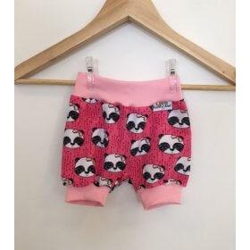 Kurze Hose mit Panda pink