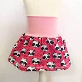 Rock mit Panda pink