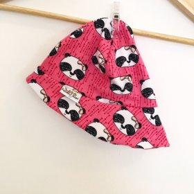 Sommermütze mit Panda pink