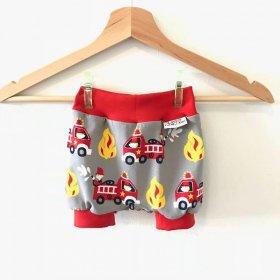 kurze Hose Feuerwehr grau