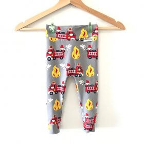 Leggings Feuerwehr grau