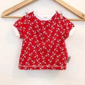 T-Shirt mit Anker rot