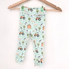 Leggings Bauernhof mint