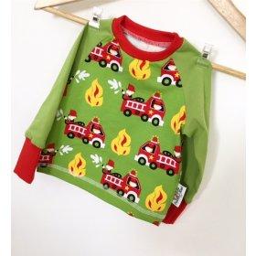 Langarmshirt mit Feuerwehr grün