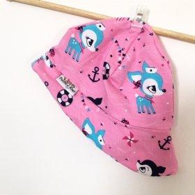 Sommermütze Reh pink