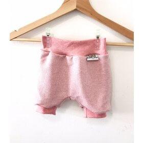 kurze Hose Strick rosa