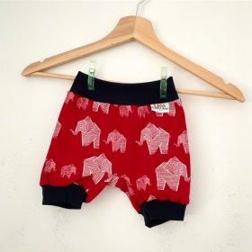 kurze Hose Elefanten rot