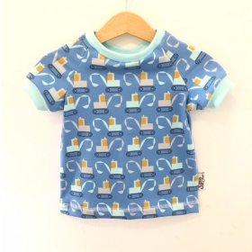 T-Shirt Bagger blau