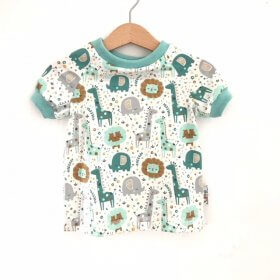 T-Shirt Dschungel mint
