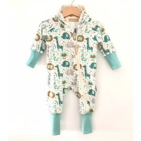 Sweatoverall Dschungel mint