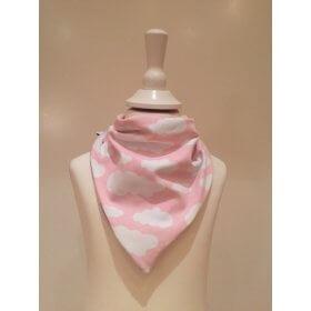 Halstuch zum Binden Wolken rosa