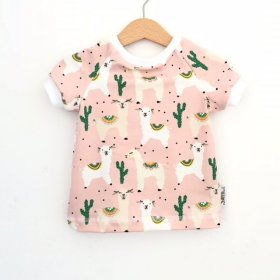 T-Shirt Lama rosa