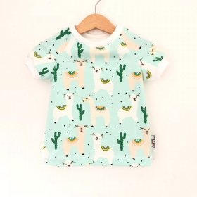 T-Shirt Lama mint