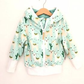 Sweatjacke Lama mint
