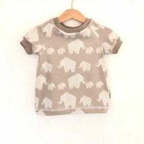 T-Shirt Elefanten grau