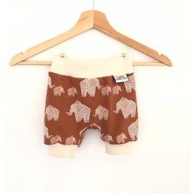 kurze Hose Elefanten braun