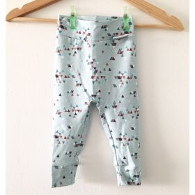 Leggings geometrisch mint