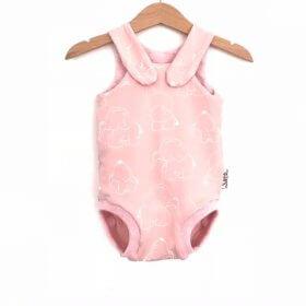 Sommerstrampler Elefanten rosa