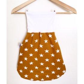 Pucksack mit Sternen senfgelb