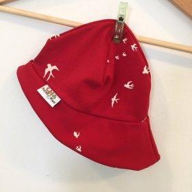 Sommermütze Schwalben rot