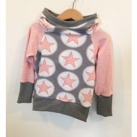 Hoodie für Mama Sterne rosa/grau