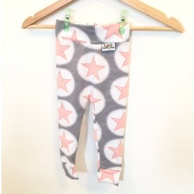 Leggings Sterne rosa/grau