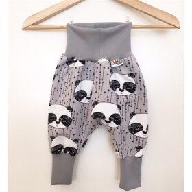 Pumphose mit Panda grau