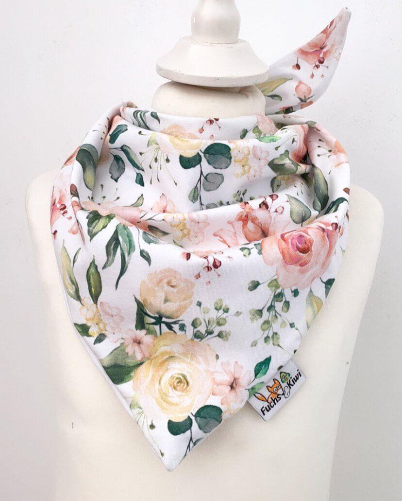 Halstuch zum Binden Blümchen rosa