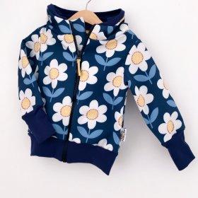 Softshelljacke Blumen dunkelblau