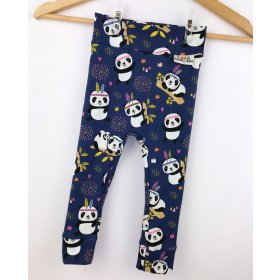 Leggings Panda dunkelblau